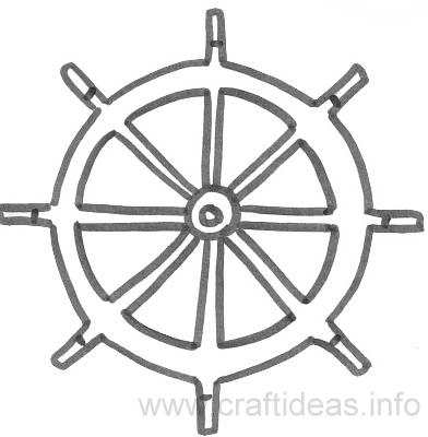 6 Images of Ship Wheel Stencils Printable