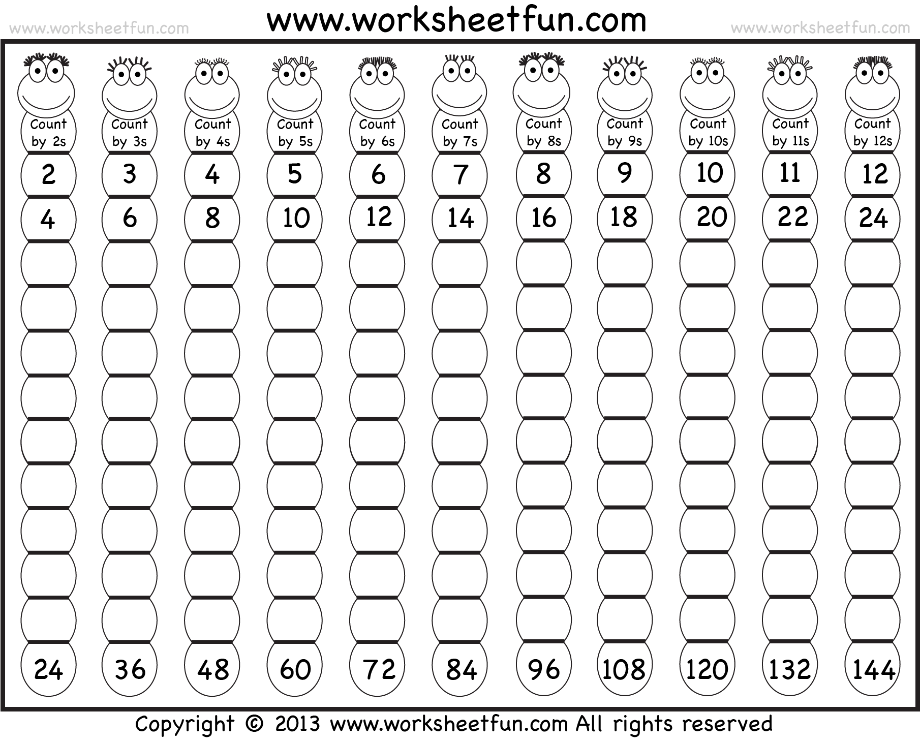 Skip Counting By 10s Worksheets Kindergarten 9 best images of – Skip Counting by 10s Worksheets Kindergarten
