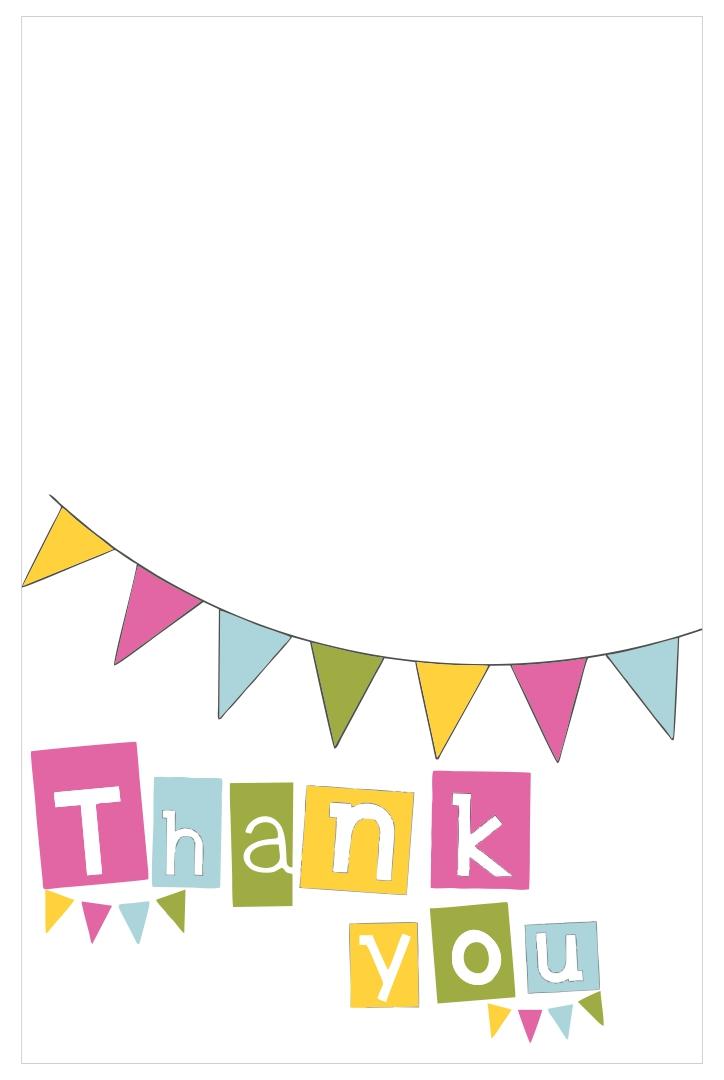 Thank You Card Templates Printable Free