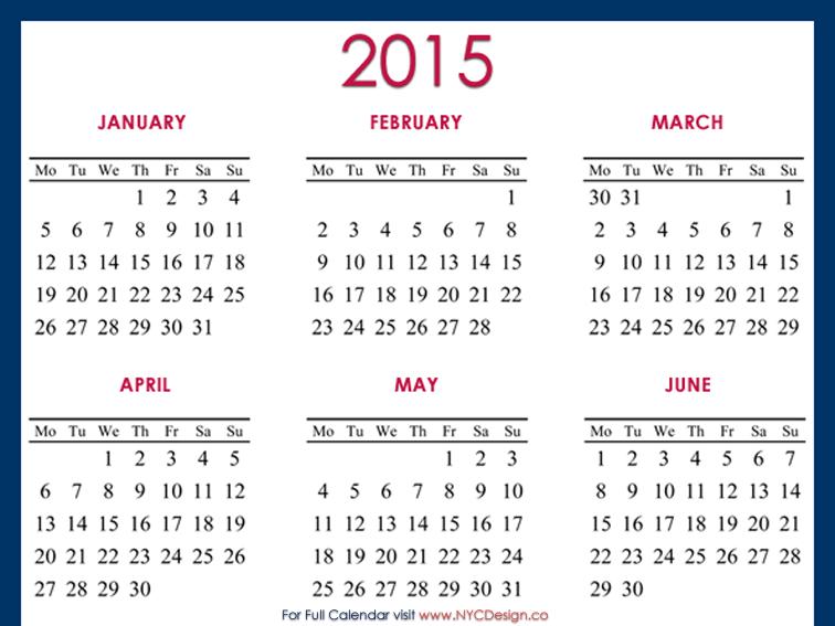 4 Images of 2015 Calendar Printable 8.5X11