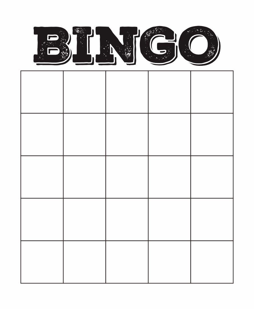 of Custom Bingo Card Printable Template - Free Printable Blank Bingo ...