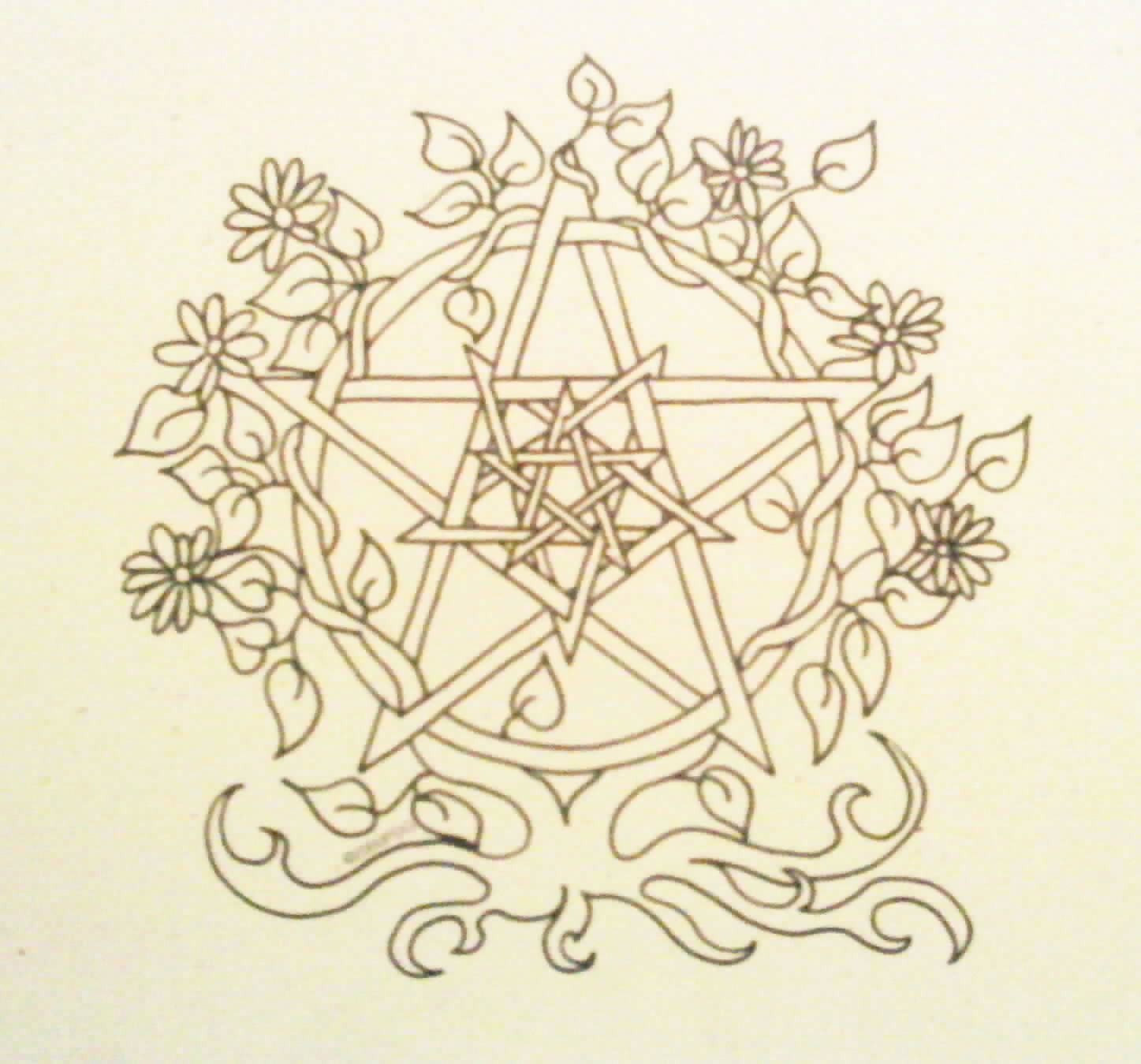 5 Images of Wiccan Coloring Pages Printable