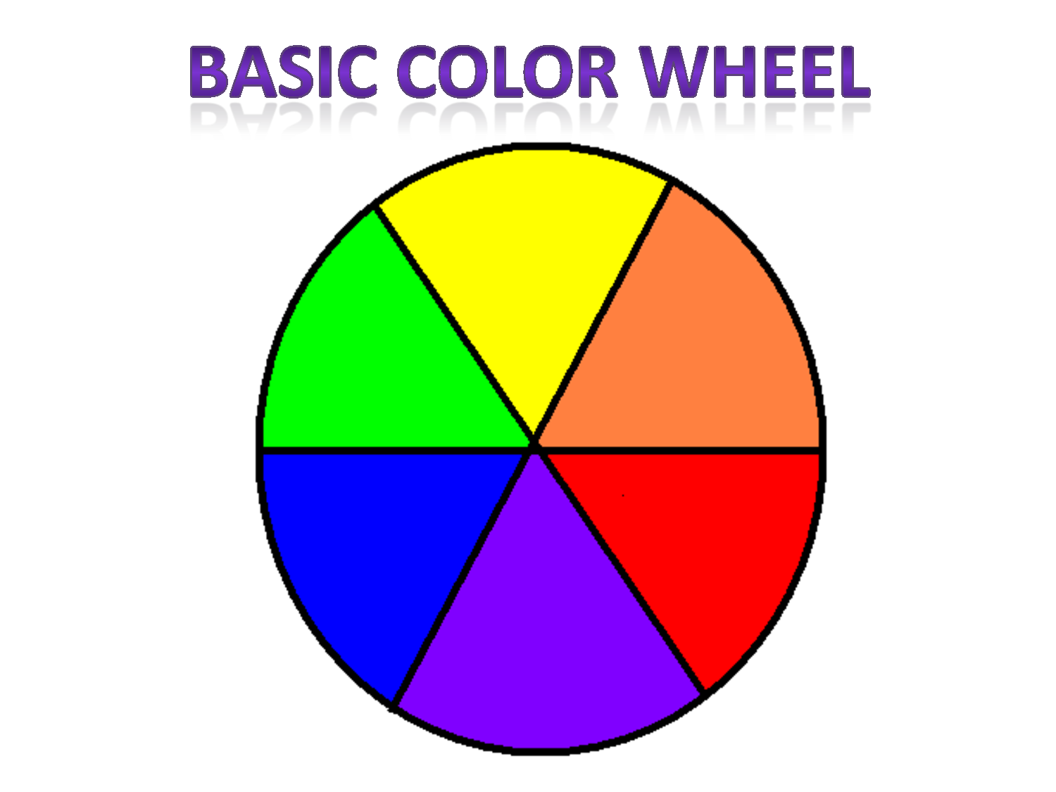 5 Images of Basic Color Wheel Template Printable