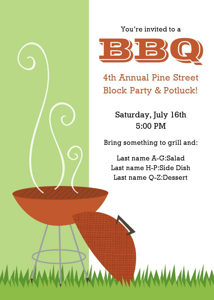 7 Images of Free Printable BBQ Invitation Flyer