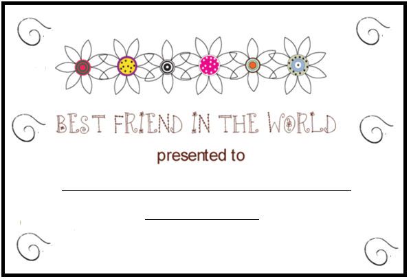6 Images of Printable Friendship Cards To Color