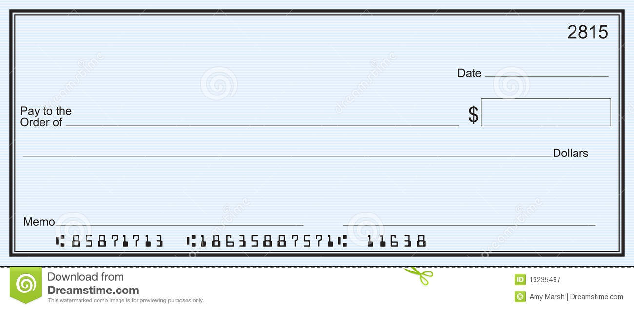 7 best images of printable personal blank check template for Large fake check template
