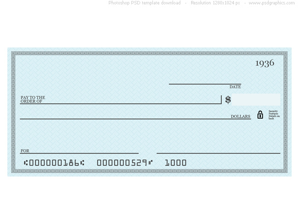 7 Images of Printable Personal Blank Check Template