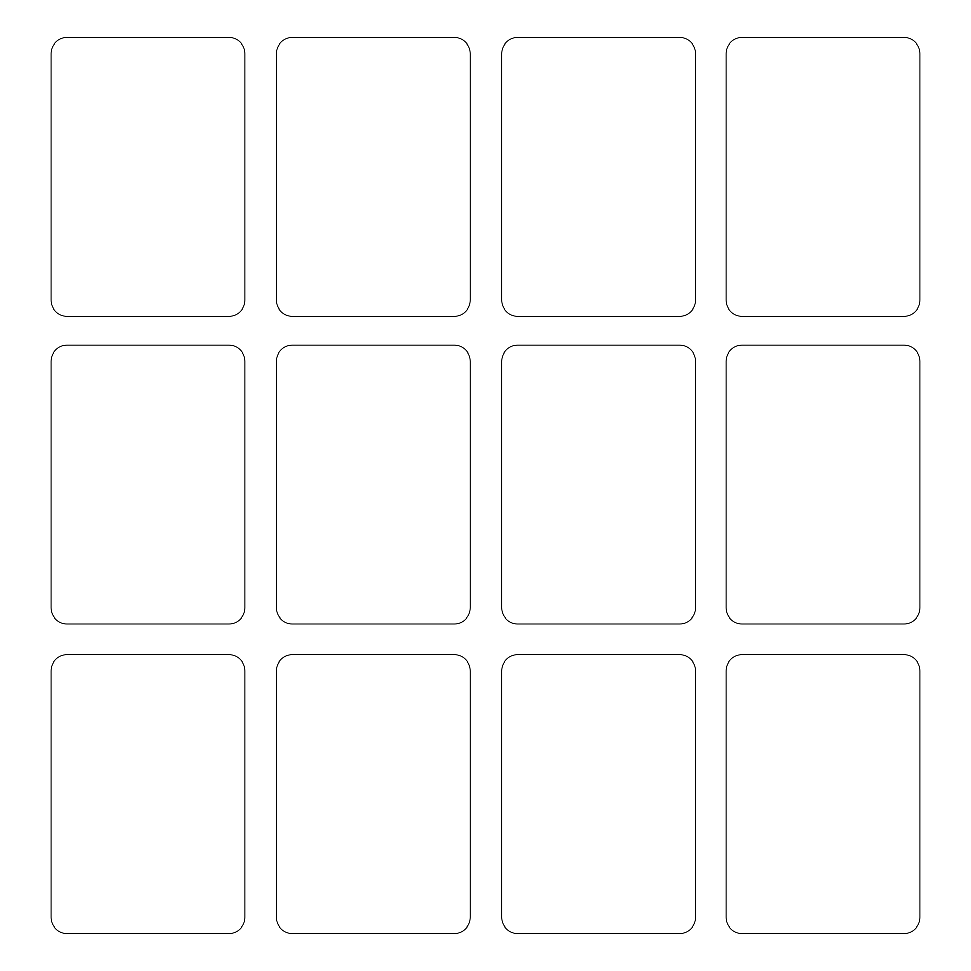Blank Playing Card Printable Template For Word