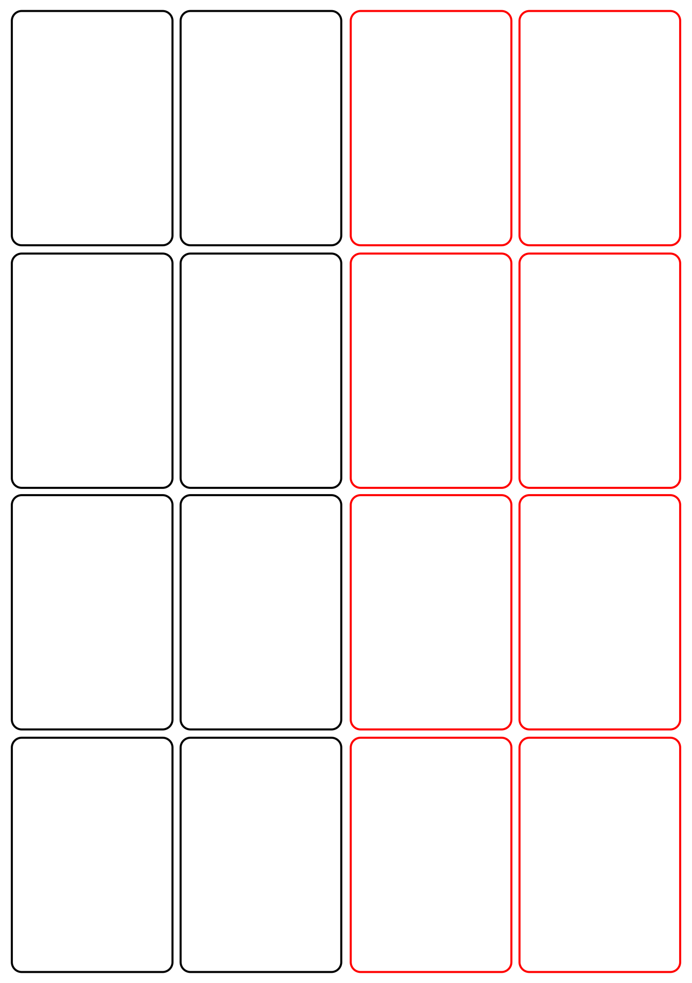 8 best images of blank playing card printable template for for Postcard template for pages