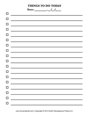 7 Images of Blank Printable Checklists To Do
