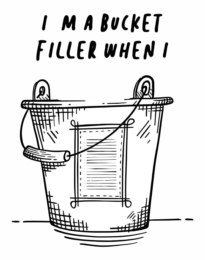 Bucket Filler Coloring Pages