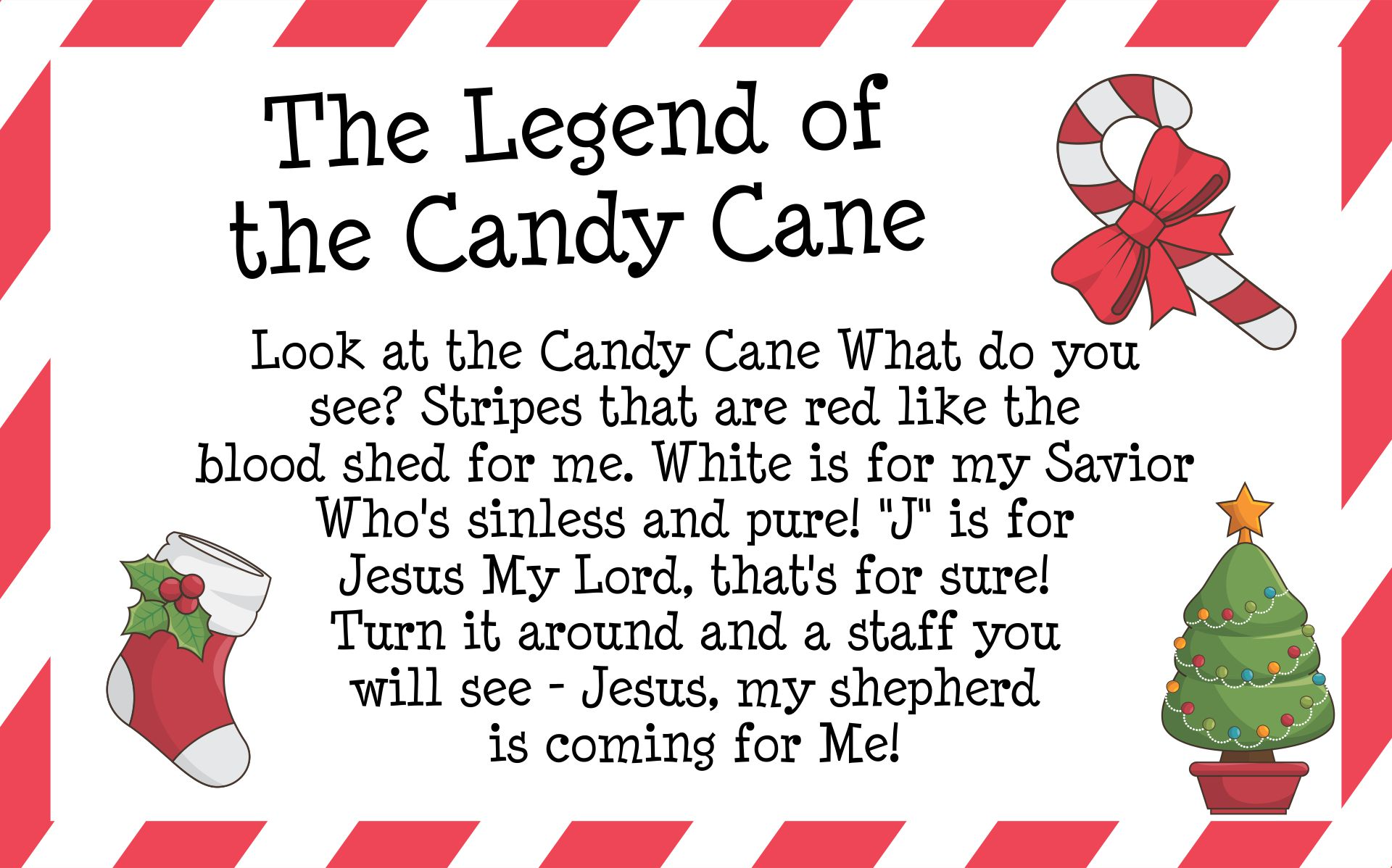 Candy Cane Legend Printable