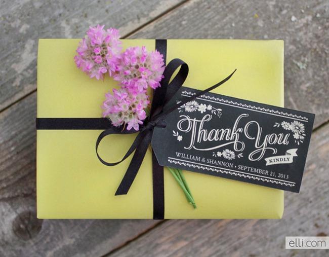 Chalkboard Favor Gift Tags Printable
