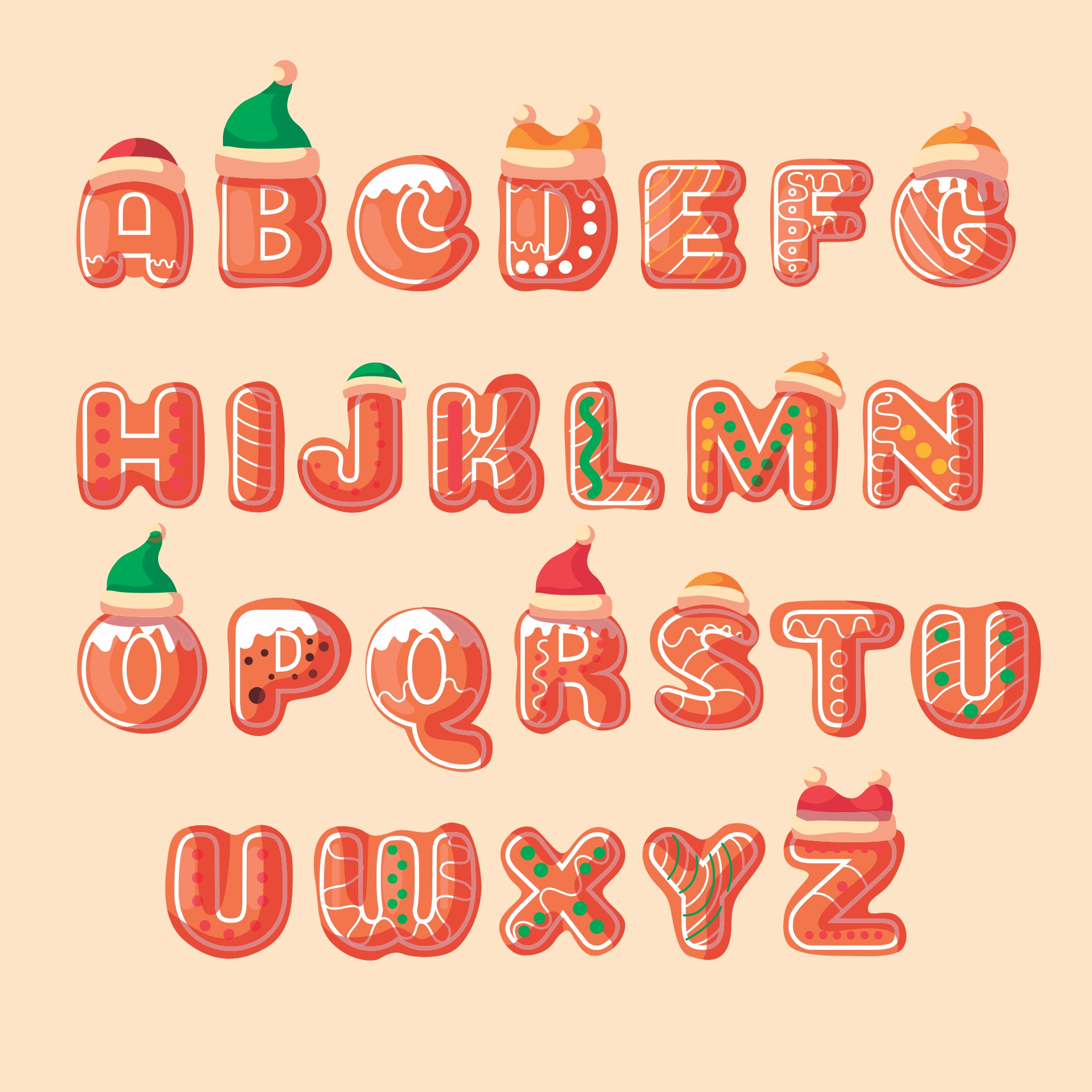 7 best images of merry christmas printable for letters With holiday alphabet letters