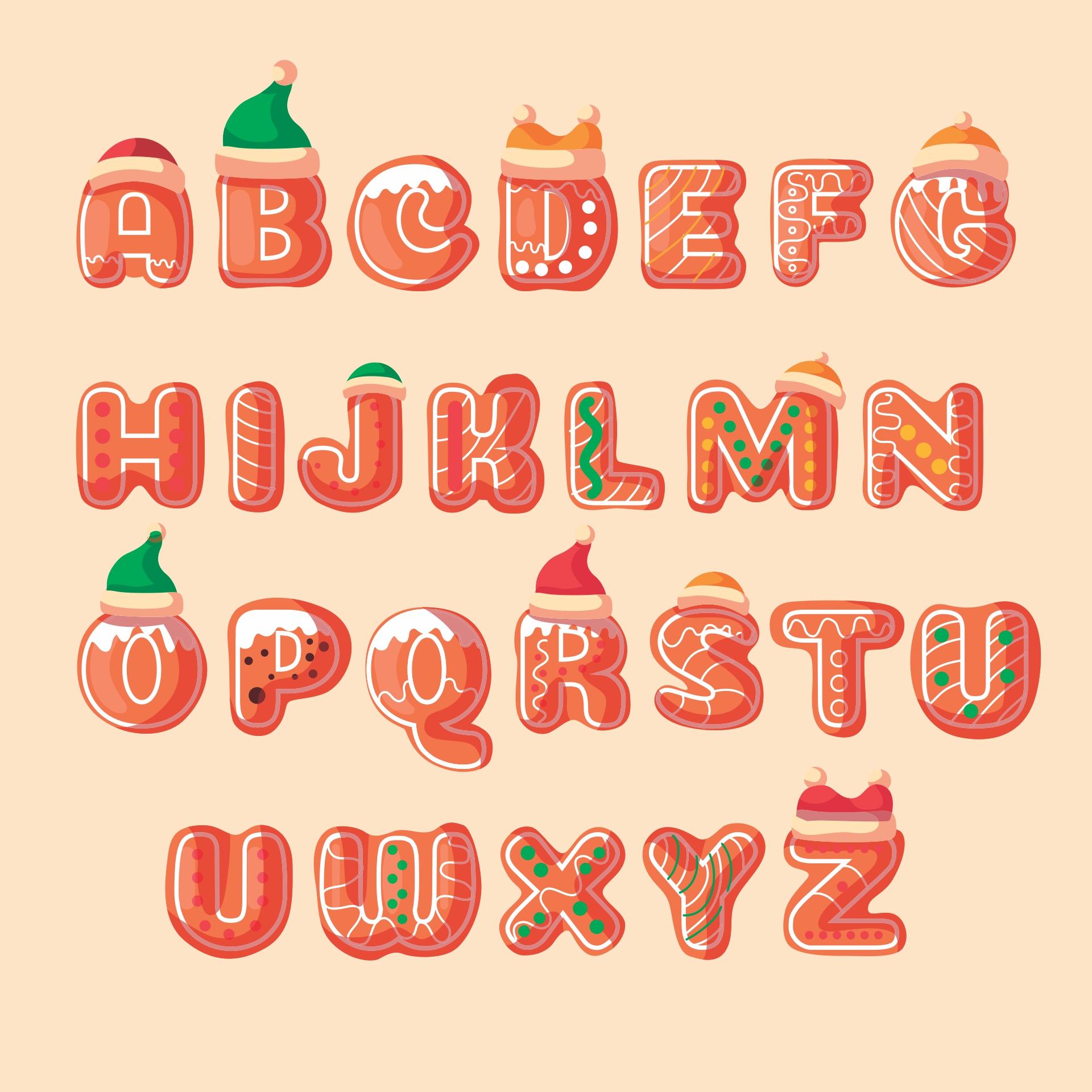 Christmas Alphabet Letters