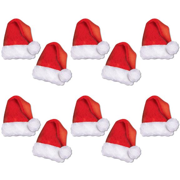 8 Images of Mini Santa Hats Printable