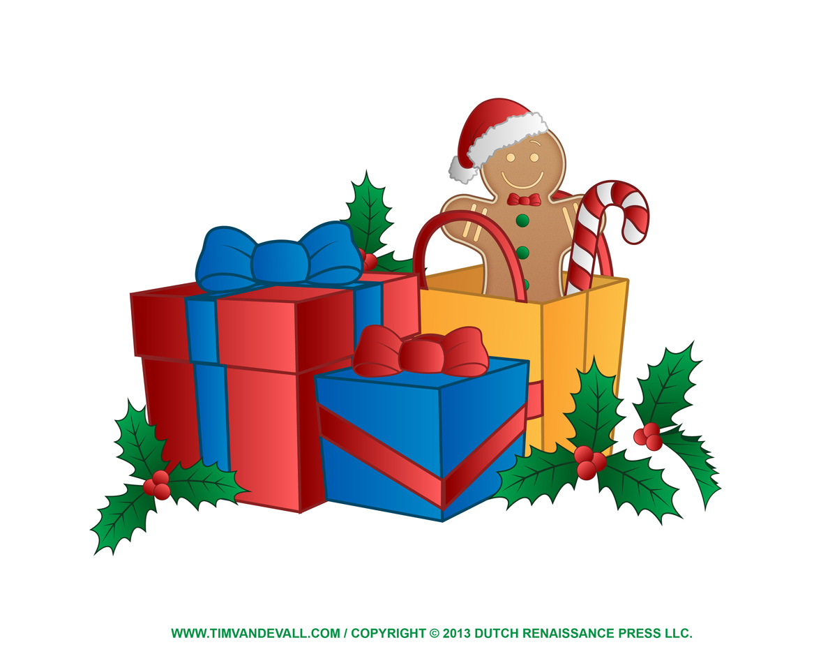 Best images of printable christmas presents clip art