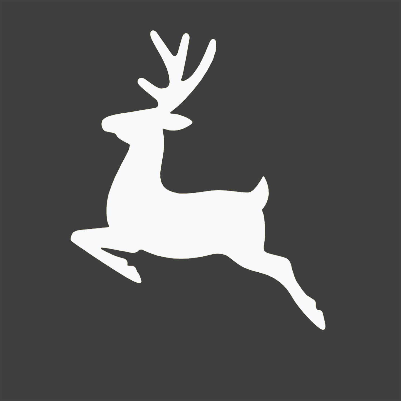 Best Images of Free Printable Christmas Silhouettes - Free Deer Head ...