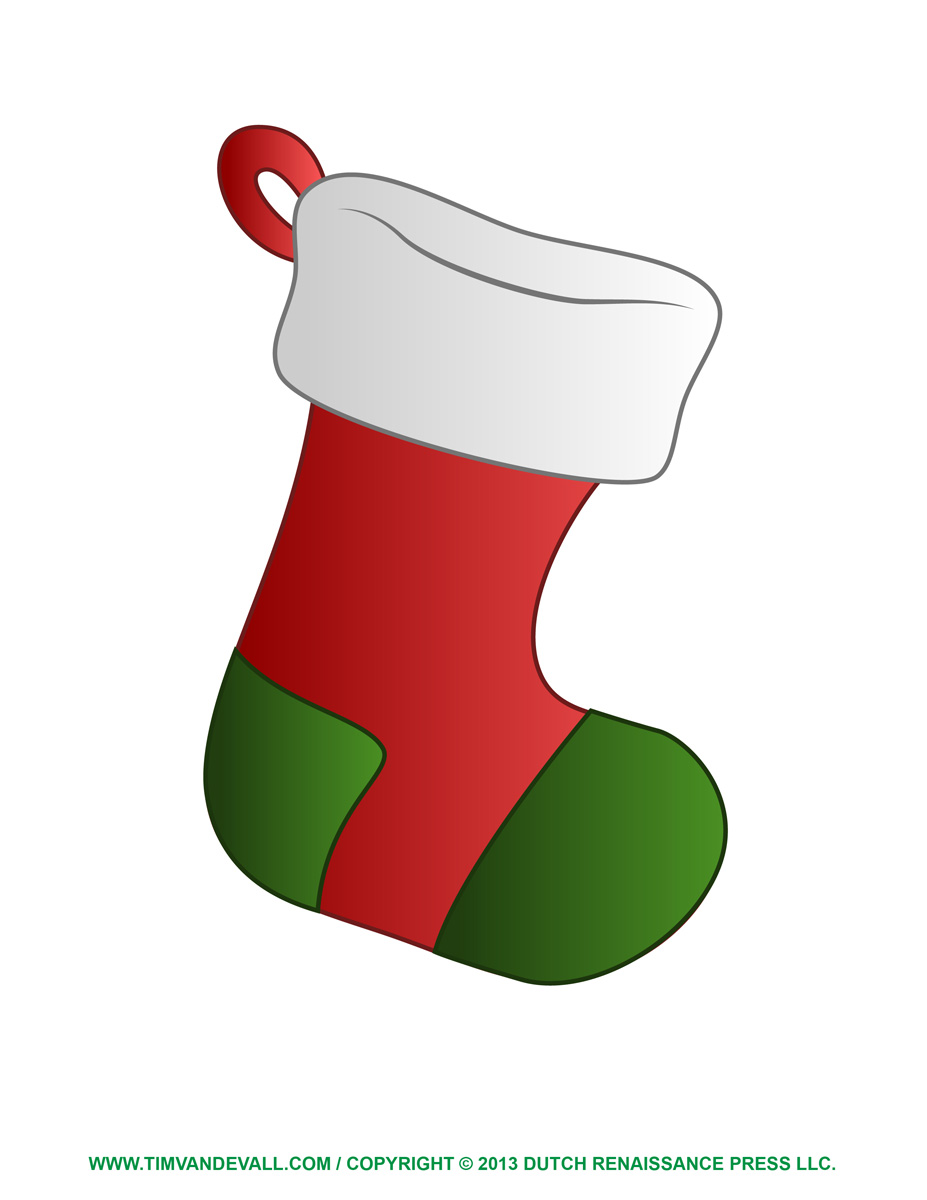 Clip Art Christmas Stocking Template