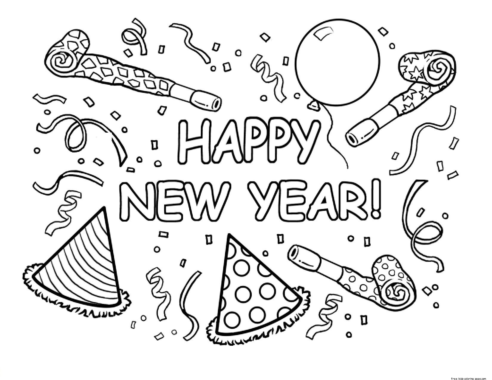 6 Images of Happy New Year Printable