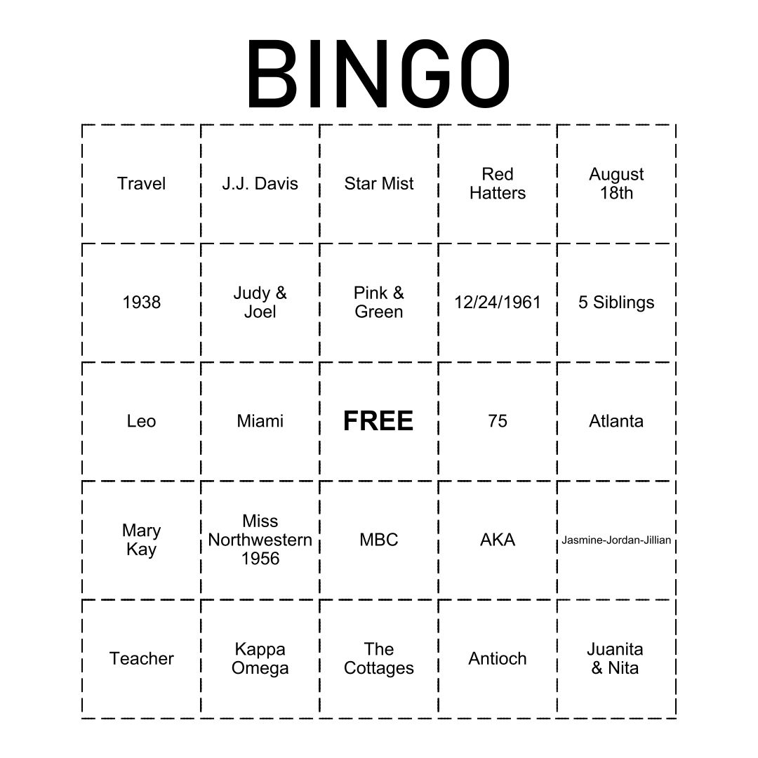 Custom Bingo Cards Printable