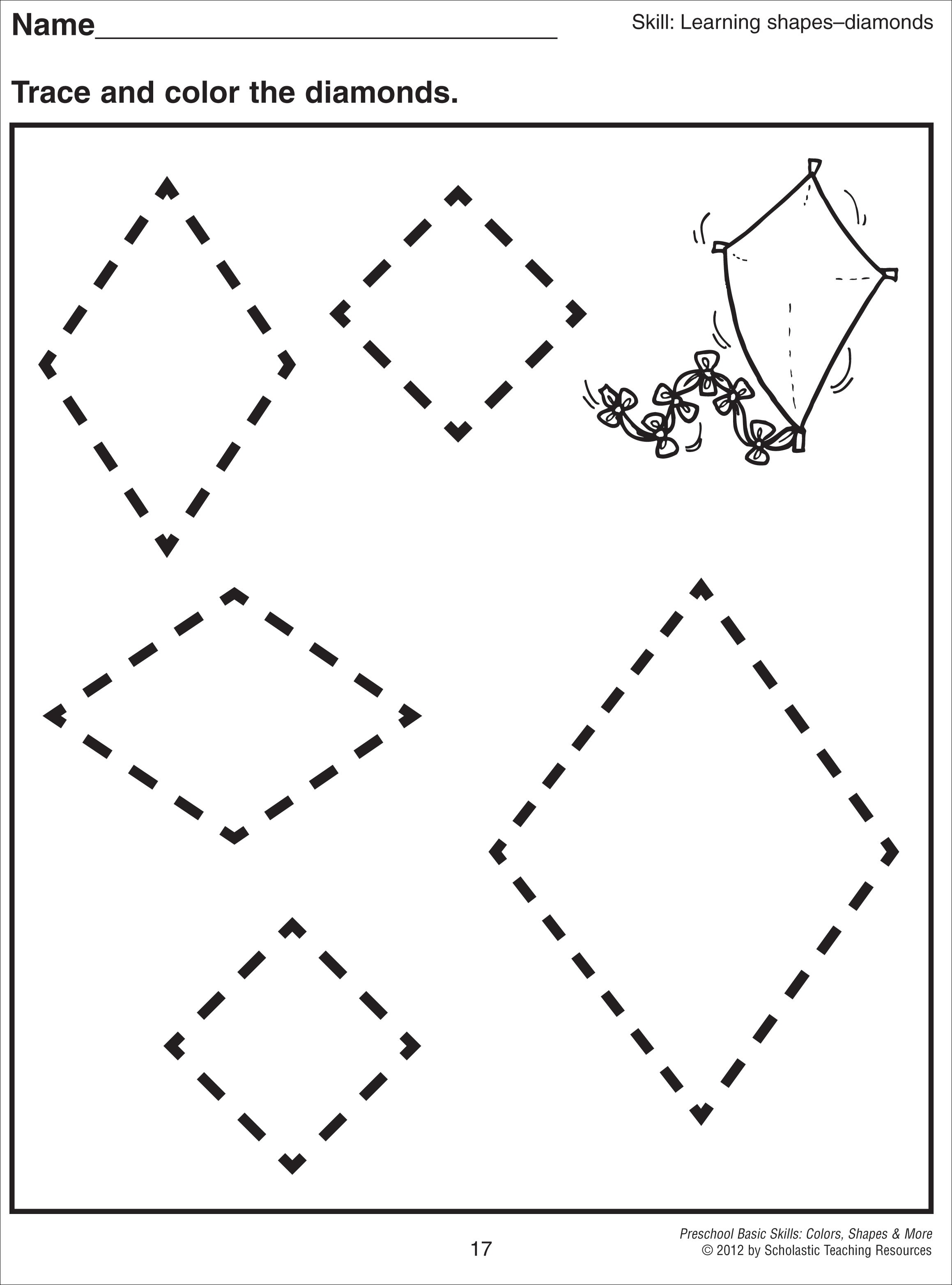 diamond coloring pages print outs - photo#38