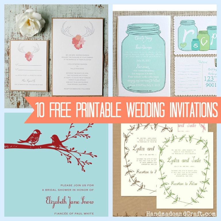 DIY Wedding Invitations Templates Printable Free