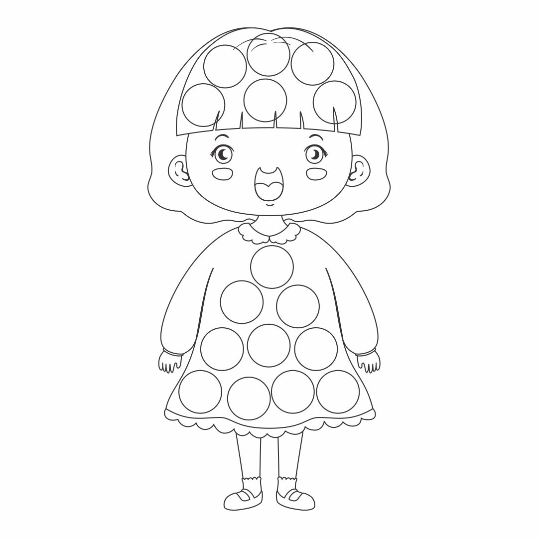 Do a Dot Printable Coloring Pages