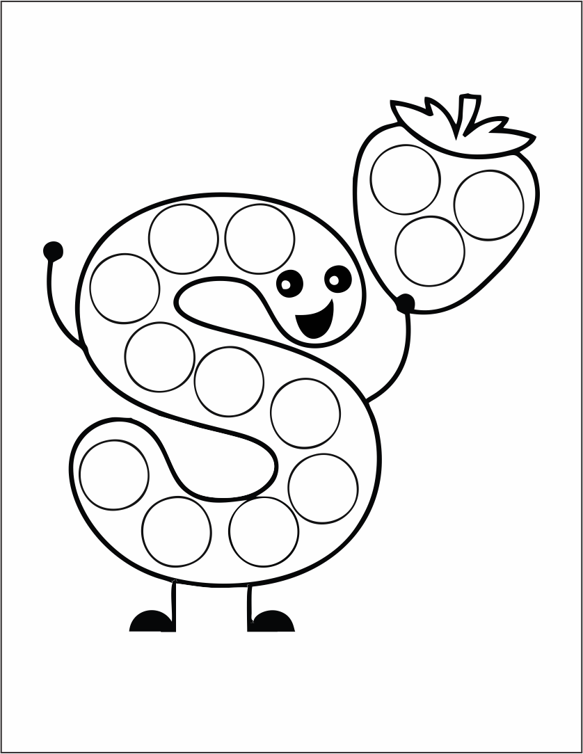 Dot Art Coloring Pages