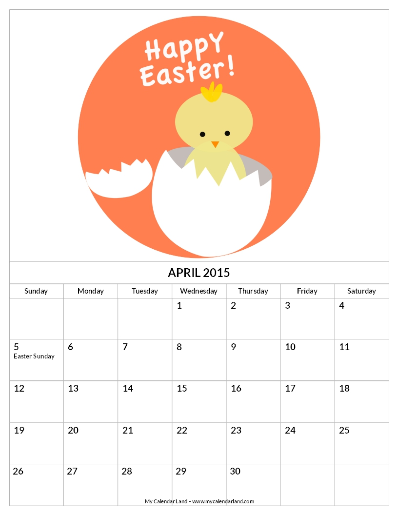 April Calendar Easter : Best images of free printable april calendar pieces