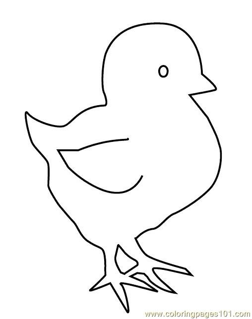 Easter Chicks Coloring Pages Printable