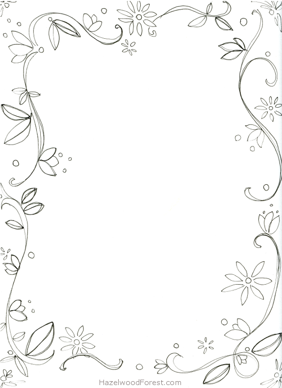 7 Best Images of Border Coloring Pages Printable - Fancy ... Fancy Color Border