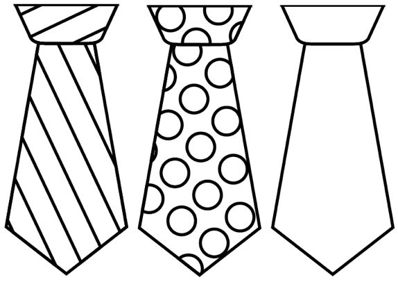 8 Images of Father's Day Printable Tie Template