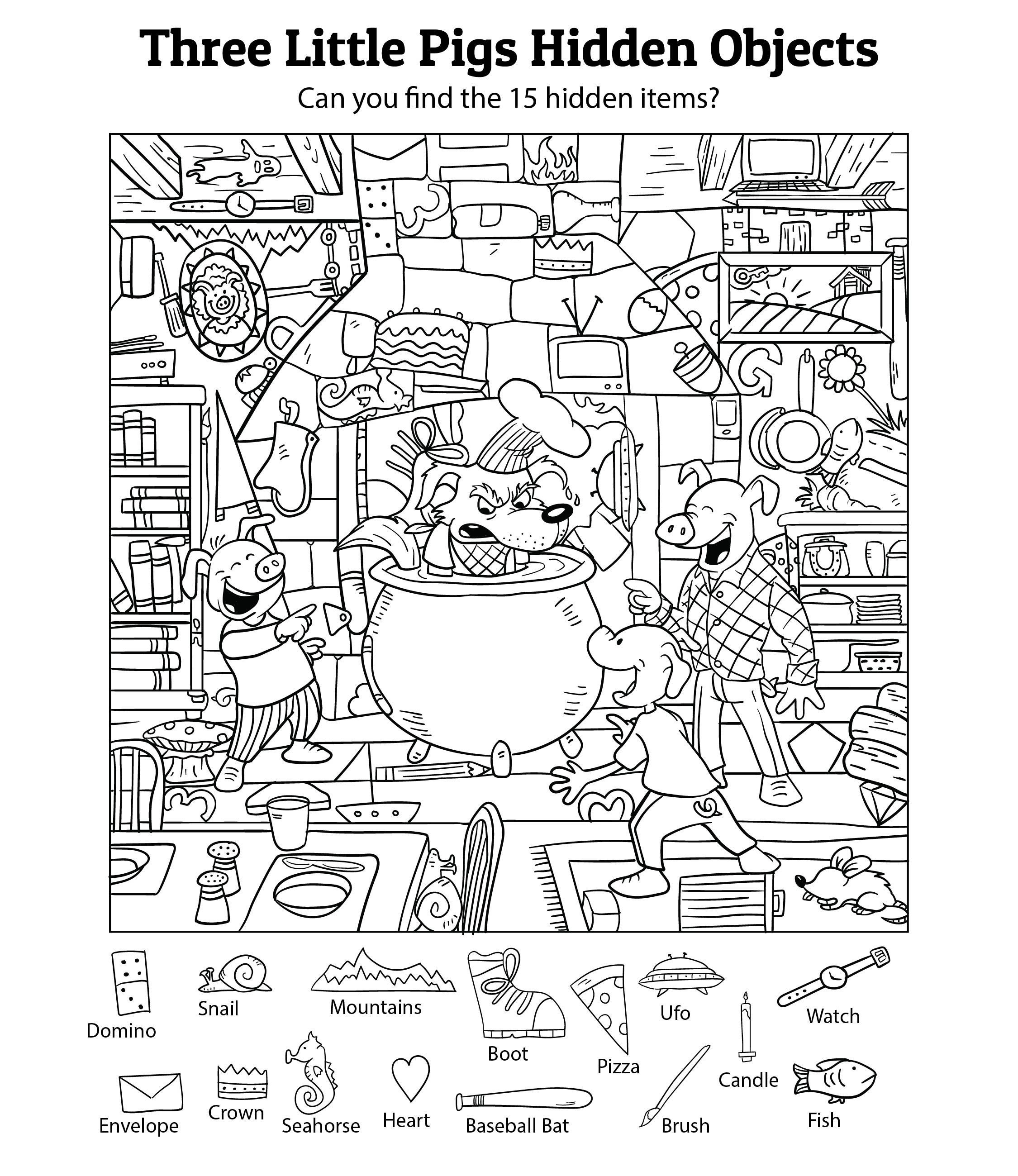 6 Images of Hidden Object Printables