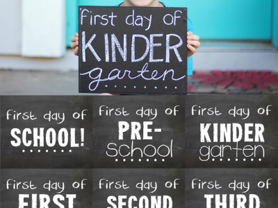 First day of school printable template first day of for First day of school sign template