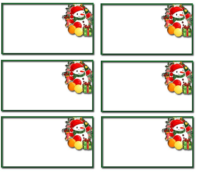 Christmas Name Tag Templates