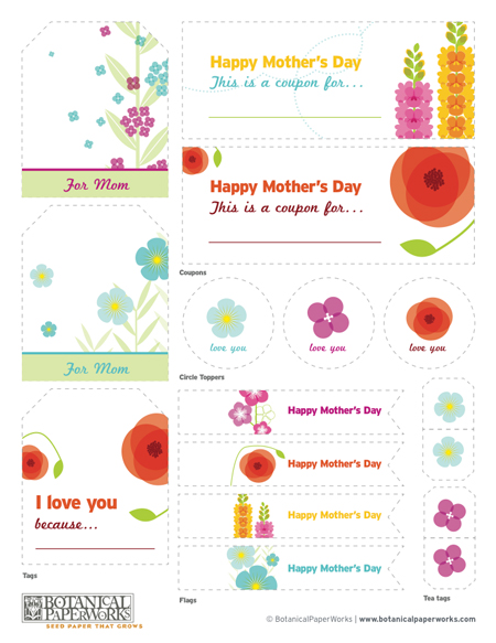Free Mother's Day Printables