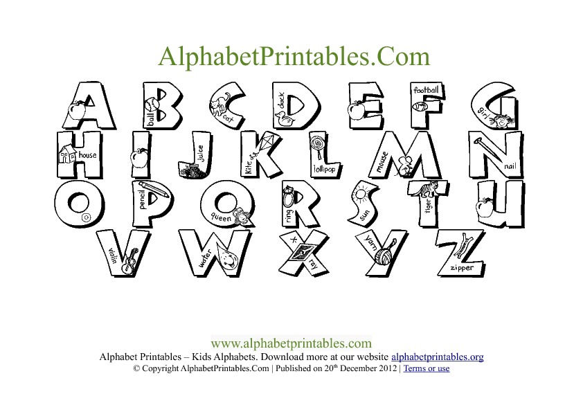 6 Images of Free Printable Alphabet Chart PDF