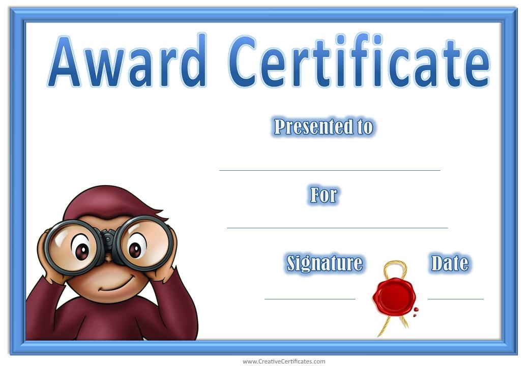 free printable childrens certificates templates - 7 best images of aunty award free printable happy mother