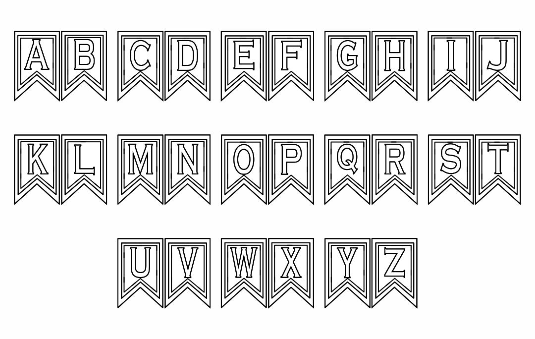 Printable Banner Letters Template