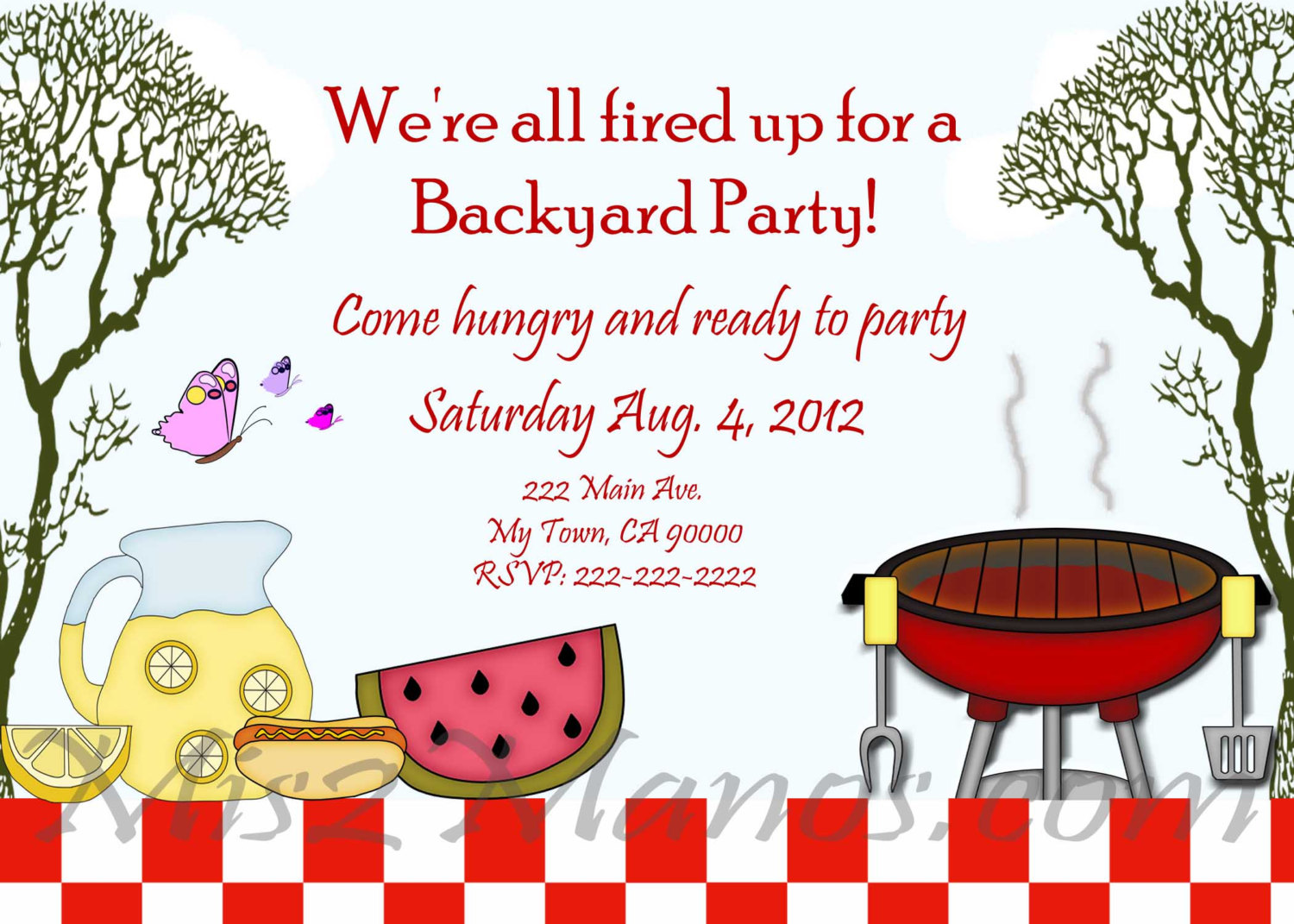 7 Images of Summer BBQ Party Invitations Printable Free