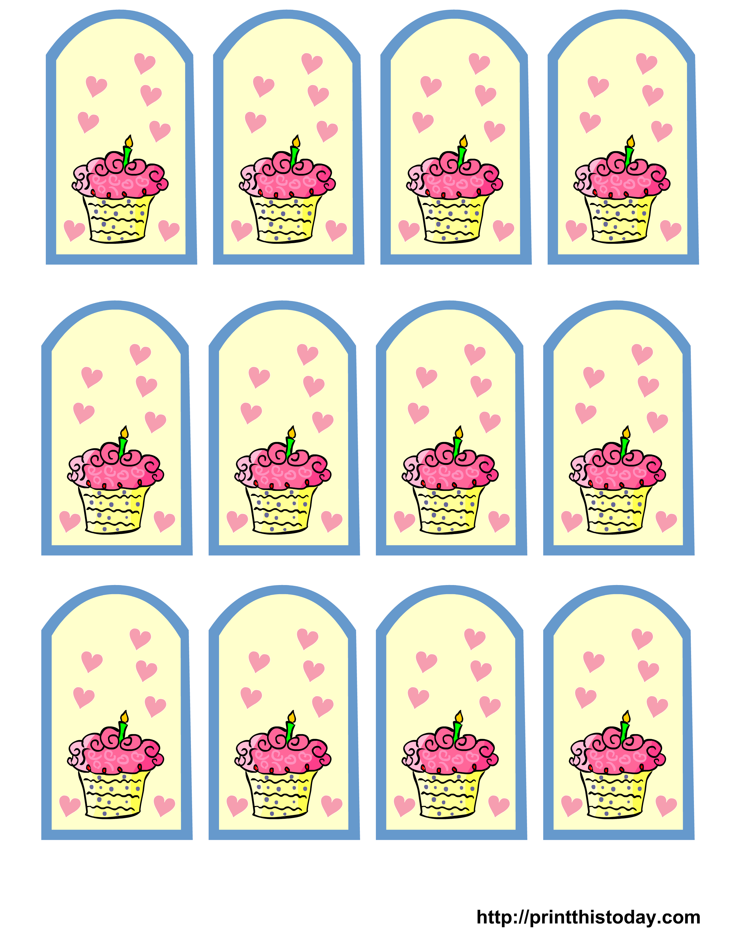 9 Images of Printable Birthday Favor Tags Template