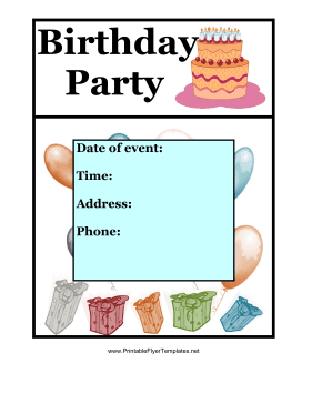 7 Images of Free Printable Party Flyers