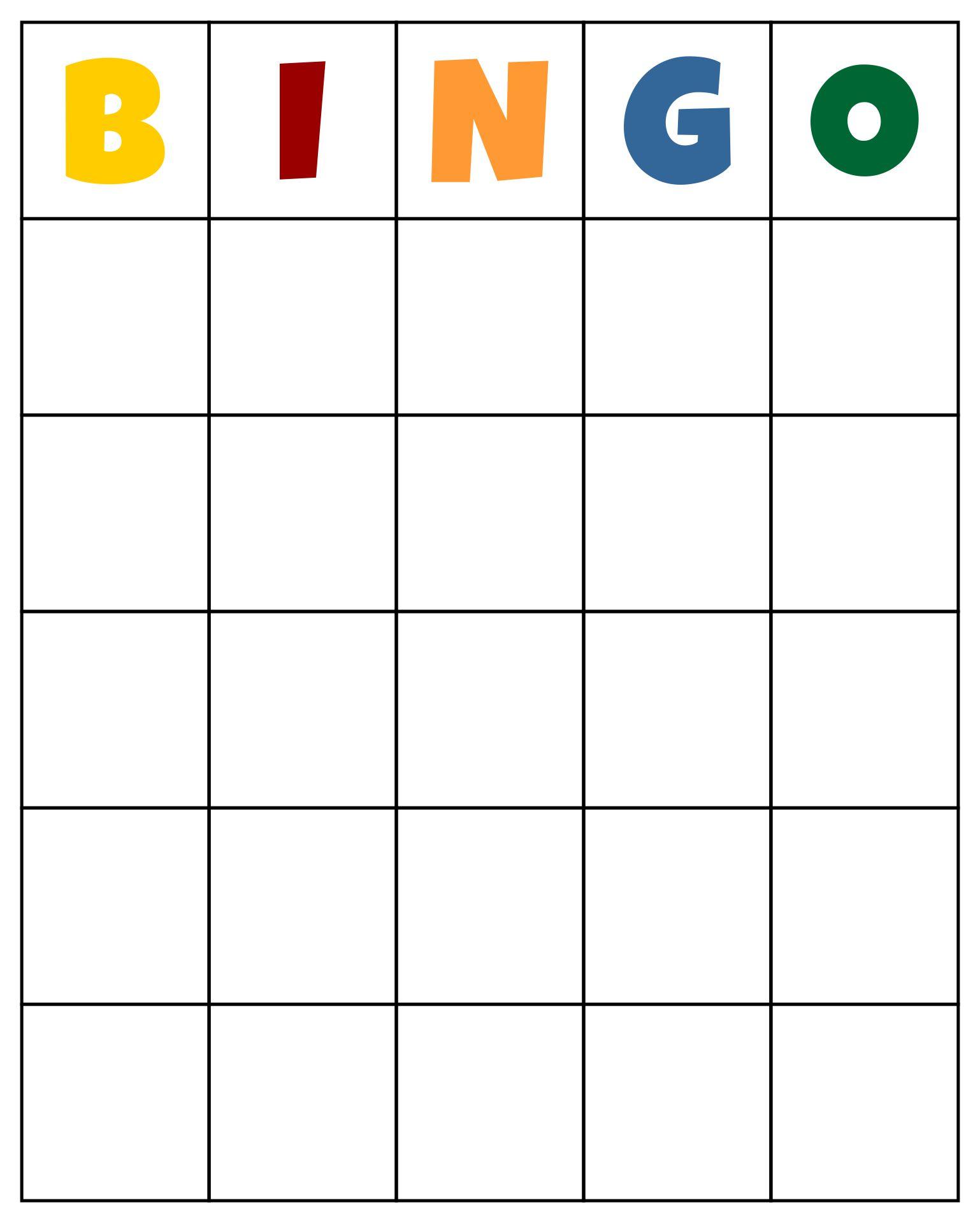 8 Images of Custom Bingo Card Printable Template