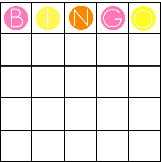 6 Images of 8X8 Blank Bingo Cards Free Printable Template