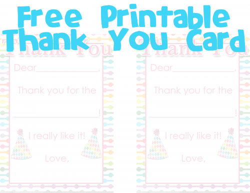 8 Images of Printable Blank Thank You Cards