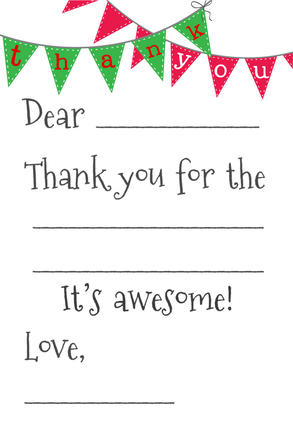 8 Best Images of Printable Blank Thank You Cards - Free ...