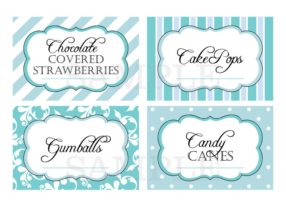 5 Images of Candy Buffet Labels Printable
