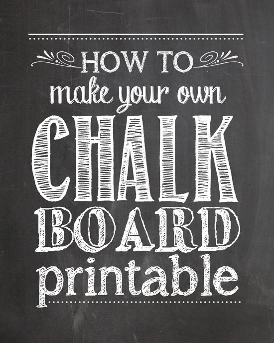 Free Printable Chalkboard Template