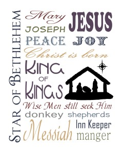 6 Images of Free Printable Christian Christmas Subway Art